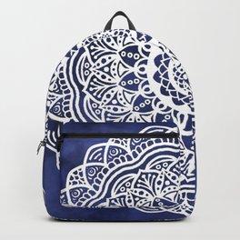 Deep Ocean Blue Mandala - LaurensColour Backpack