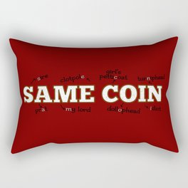 two sides of the same coin Rectangular Pillow