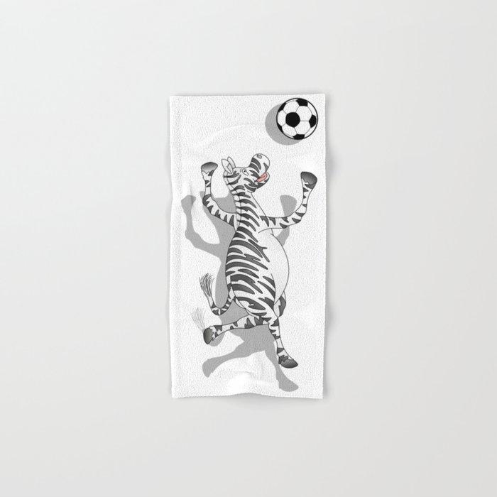 Zebra Football Hand & Bath Towel
