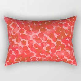 Coral Red Dots Rectangular Pillow