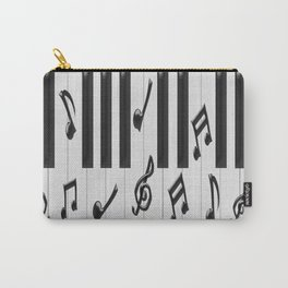 Black and White Piano Keyboard Carry-All Pouch