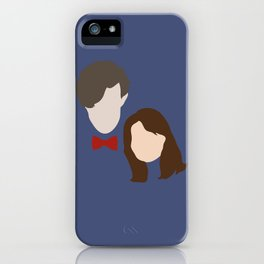 The Eleventh Doctor and the lovely Clara Oswin Oswald iPhone Case