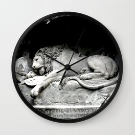 Lion of Lucerne Wall Clock