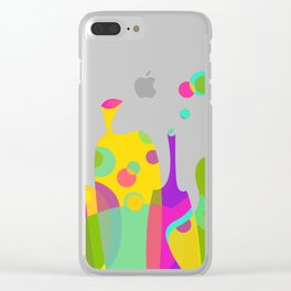 Colorful Funky Bottle Shapes II Clear iPhone Case