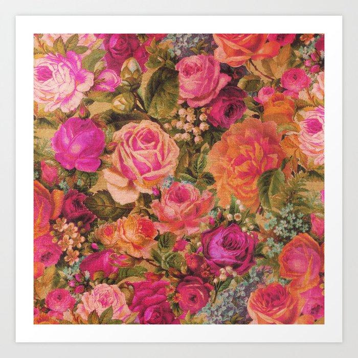 Rose Garden 1 Art Print