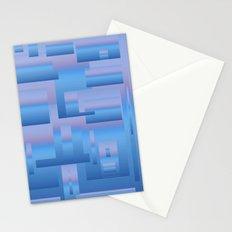 blue modern Art Stationery Cards
