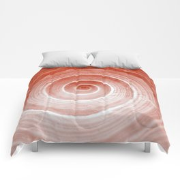 coquillage rouge forme Comforters