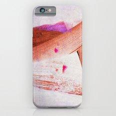 brush strokes purple orange iPhone 6s Slim Case