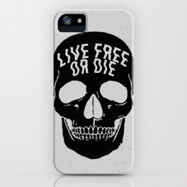 Live Free or Die iPhone Case