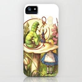 Alice & The Hookah Smoking Caterpillar - Alice In Wonderland iPhone Case