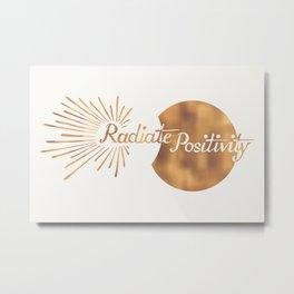 Radiate Positivity - light version Metal Print