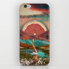 Grapefruit valley iPhone Skin