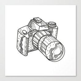 DSLR Camera Doodle Art Canvas Print