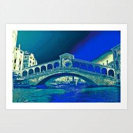 venice rialto bridge Art Print