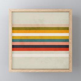 modern abstract stripe geometric Framed Mini Art Print