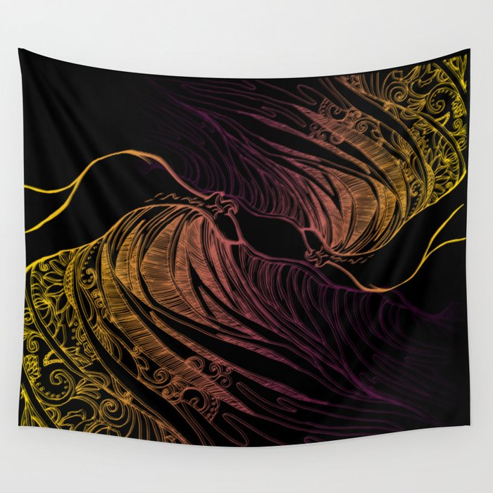 CRZ WAVE Wall Tapestry