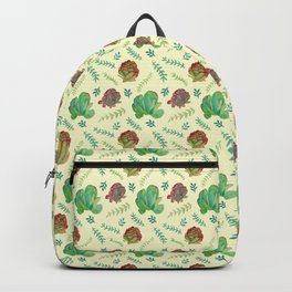 Paddle Plant Pattern Backpack