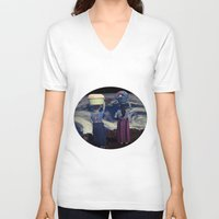 planet V-neck T-shirts featuring Planet by Cs025