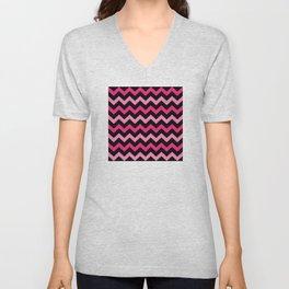 Vintage zigzag pattern Unisex V-Neck