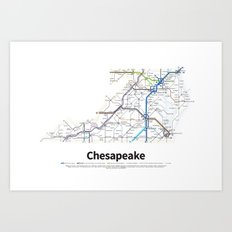Highways of the USA – Chesapeake Art Print