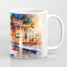 Watercolor painting pier Coffee Mug