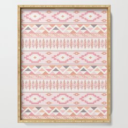 Pink Boho Tribal Aztec Serving Tray