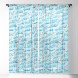 Swimming girls Sheer Curtain