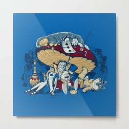 Stoned In Wonderland Metal Print
