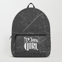 New York Girl B&W / Vintage typography redrawn and repurposed Backpack