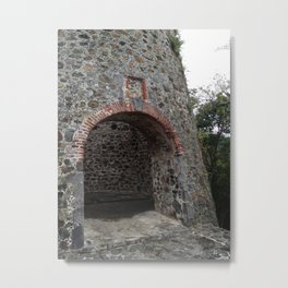 Virgin Islands, St. John, Danish Sugar Mill Stone Ruins Metal Print