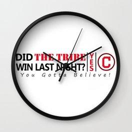 Did the tribe win last night? Wall Clock