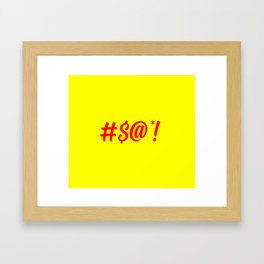 Swear word funny logo Framed Art Print
