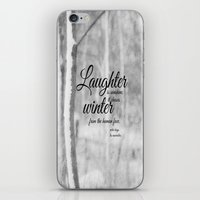 les miserables iPhone & iPod Skins featuring Les Miserables Quote Winter by KimberosePhotography