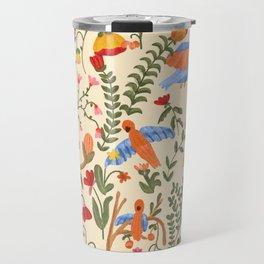 Tropical Garden Pattern Travel Mug