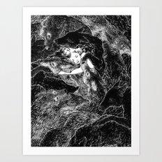 The Child Sleeps (B&W) Art Print