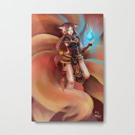 Foxfire Ahri Metal Print