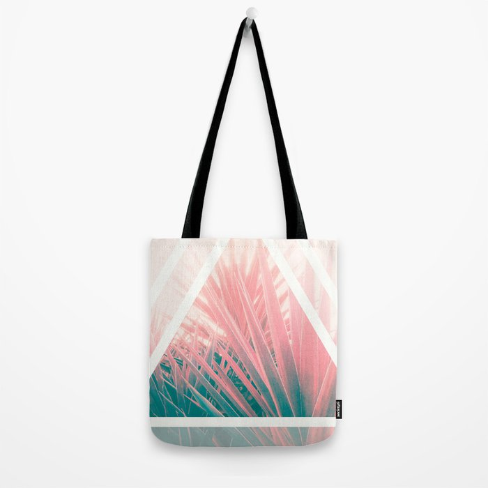 Pastel Palms into Triangle Tote Bag