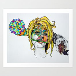 Mind of Artist Art Print