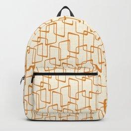 Retro Reverse Orange Geometric Pattern Backpack