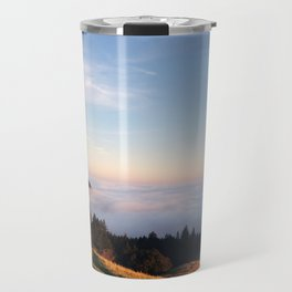 Fog Rolling in over the Mountain Travel Mug