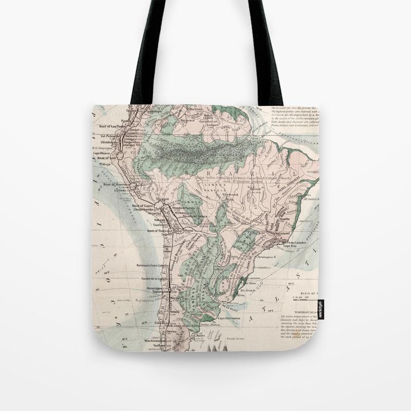 SOUTH AMERICA tote bag to stitch