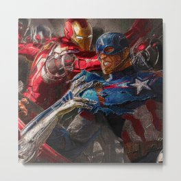 War of superhero Metal Print