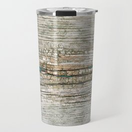 Rustic Wood Ages Gracefully - Beautiful Weathered Wooden Plank - knotty wood weathered turquoise pa Travel Mug
