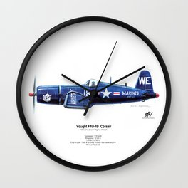 Vought F4U-4B Corsair Wall Clock