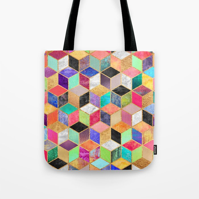 Colorful Cubes Tote Bag
