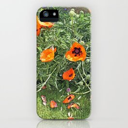 South winds jostle them; poppies in the garden iPhone Case