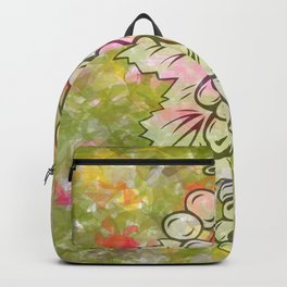 Bunch of grapes with colorful background Backpack