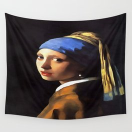 Girl with a Pearl Earring After Johannes Vermeer Wall Tapestry