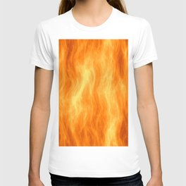Red flame burning T-shirt