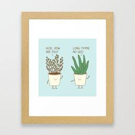 garden etiquette Framed Art Print
